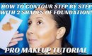 PRO ARTIST TIPS- HOW TO CONTOUR USING 2 SHADES OF FOUNDATION- karma33