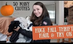 HUGE FALL THRIFT HAUL AND TRY ON!