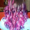 PinkyPurple Ombre hair