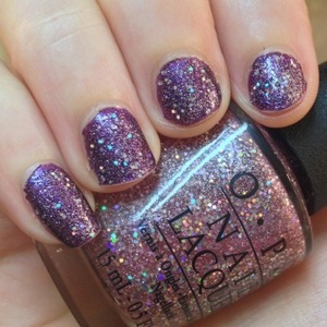 Galaxyesque manicure; OPI Grape set match with Teenage dream over the top.  http://michtymaxx.blogspot.com.au