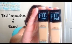 Maybelline Fit Me Matte & Poreless | First Impression & Demo