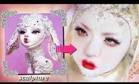 TURNING MYSELF INTO A TINA YU SCULPTURE! (makeup only)