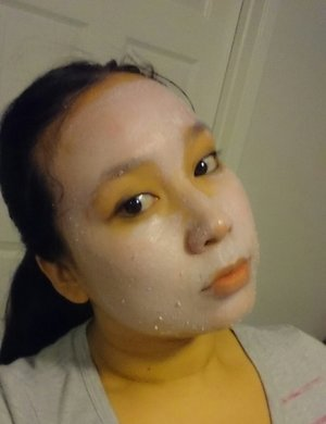 just got a new face mask product for christmas by my mother in law and im trying it out its called Malibu miracle mask by jafra