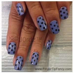 FOR DETAILS CLICK HERE: http://fingertipfancy.com/blue-black-polka-dots