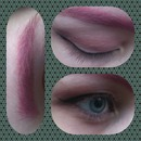Pink brow look