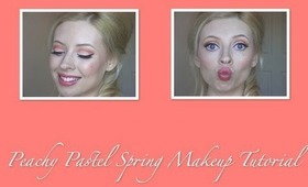 Peach Pastel Spring Makeup Tutorial