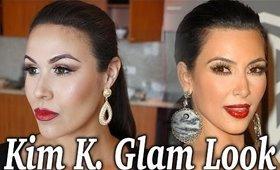 Kim Kardashian Inspired Glam Makeup Tutorial
