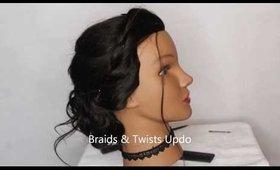Braids & Twists Summer Updo | Hair tutorial