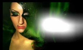 Aurora Borealis / Northern lights full face / mask / look / make-up