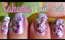 Easy Cherry Blossom Nail Art