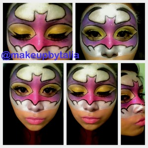 I added pink purple yellow and black for this look