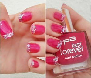 with p2 Last Forever, pink nailpolish...