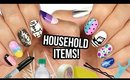 10 Nail Art Designs Using HOUSEHOLD ITEMS! | The Ultimate Guide #7