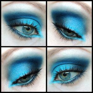 Quick blue smokey eye :)