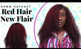 GRWM Chit Chat   Hot Red Glueless Wig, 2020 Focus & Motivational Chat