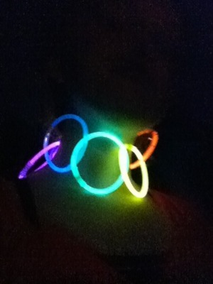 If your looking to have a fun time but don't have a necklace... A few glow sticks ought to do the trick!