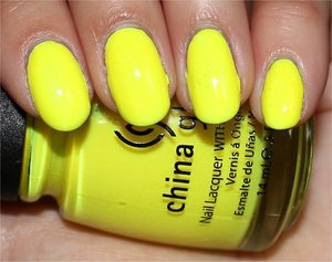 See my review & more swatches here: http://www.swatchandlearn.com/china-glaze-yellow-polka-dot-bikini-swatches-review/