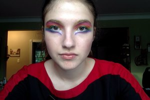 Pride-themed make-up!
