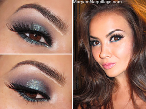 full details on my blog: http://www.maryammaquillage.com/2013/08/midnight-smokey-makeup.html