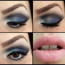 Blue and black eyeshadow combo