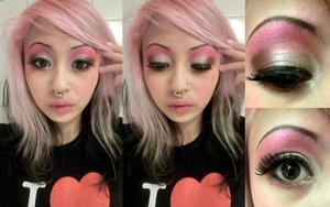 I used Beating Heart, Ursula, XOXO and Misshapes by Rockeresque Beauty Company ! c: