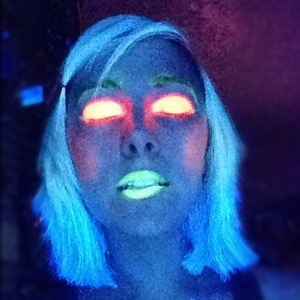 Quick Tester Photo! But what do you guys think of UV makeup? Will upload some better photo's once I've got the hang of it!