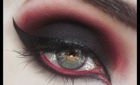 Black and Red Gothy Makeup Tutorial