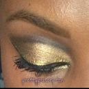 Gold and black cut crease MAC eyeshadows