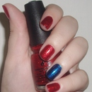 Classy,  simple 4th of July nails