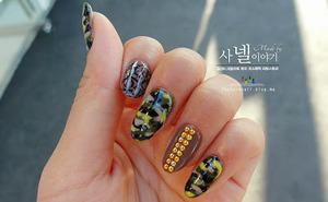 Army Camo nail from Saranail