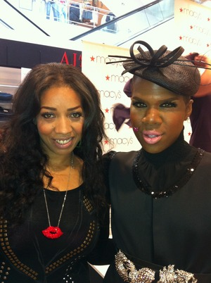 Me & Miss Lawrence from Real Housewives...I love his pink lips!