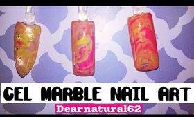 GEL MARBLE NAIL ART | Dearnatural62