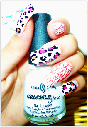 Crackled Leopard Nails