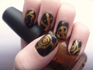 Hunger Games Nails, January 27 2012 May the odds be ever in your favour!