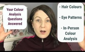 New Hair Colour; New Colour Palette? How I Know About Eye Patterns? Plus More...
