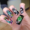 Street funky nails!