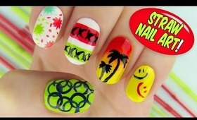 Straw Nail Art! 6 Creative Nail Art Designs Using a Straw