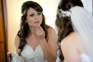 Bride's makeup and hair by me