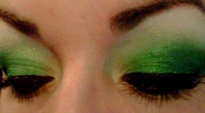 -Green Ca$h Gold Sugarpill Cosmetics -*Tako*Midori*Magpie*Bullet proof Lime Crime -Lime Criminal Victoria Secret Luminous shadow -Gold School (inner corner and underneath) e.l.f. Cosmetics -liquid eyeliner at the top Dior- waterproof eyeliner in blk