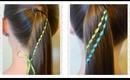 Waterfall Twist Ribbon Braid, Ponytail Hairstyles