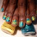 Splatter Nails (Short Nails)
