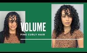 HOW TO GET VOLUME FOR FINE THIN CURLS