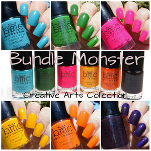 Check out my blog for full swatches and review: http://www.thepolishedmommy.com/2014/05/bundle-monster-creative-arts-collection.html
