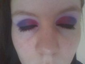Duel Colour Eyes Pink and Purple Up Close