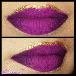 Here's my lip Art from the Domestic Violence look I did a few months back. I never really got good shots of it so I redid it.  Products used:  @thekatvond Ever Lasting Liquid Lipstick in L.U.V. @nyxcosmetics Black Lips Lip Liner @ultabeauty Eye Liner in Golden Egg @sugarpill Goldilux Pigment   That's it! Super fun and easy. Tag me if you try it! I love seeing recreations.   #Katvond #katvondbeauty #katvondlook #sugarpill #Goldilux #gold #ulta #nyx #lips #lipart #glitter #matte #purple #lipstick #beauty #beautyproducts #beautyshot #cosmetics #makeup #makeuplook #makeuptrends #instabeauty #instamakeup #kroze17