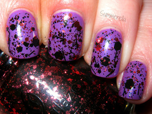 China Glaze Gothic Lolita and Scattered & Tattered summerella31.blogspot.com