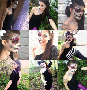 Sugar Skull Day Of the Dead hair and  Make up By Christy Farabaugh