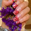 Pink Flower French Nails