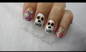 Sugar Skull Day of the Dead Nails