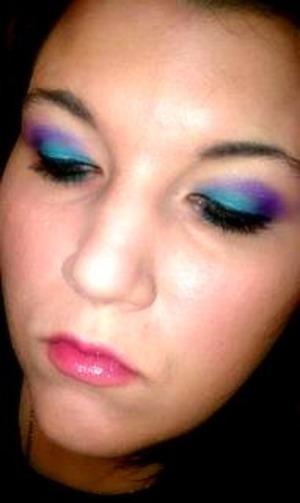 teal and purple eyes
